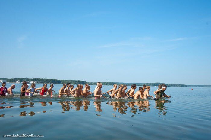 Экстрим-бег на Минском море (11 фото)