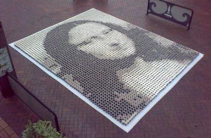 Очень оригинальная мозайка (10 фото)