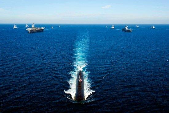 Морские учения США и Южной Кореи (24 фото)