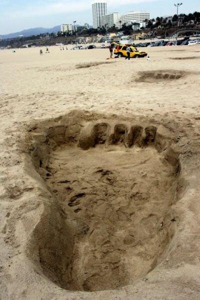 Следы на песке ) (3 фото)