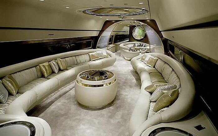 Шикарная внутренняя отделка самолетов влиятельных людей (11 фото)