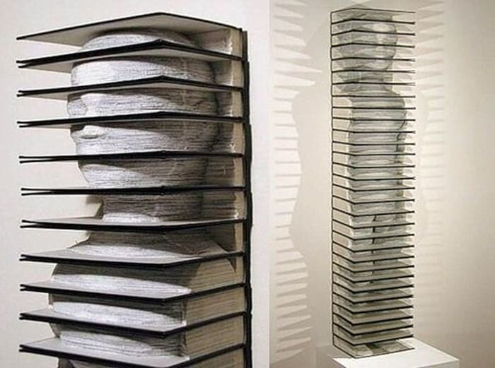 Искусство из книг (78 фото)