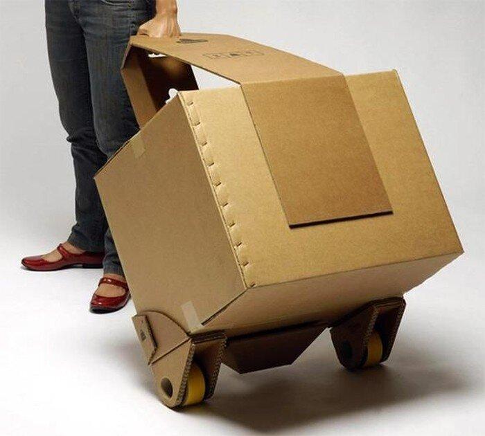 Чемодан из картона  (6 фото)