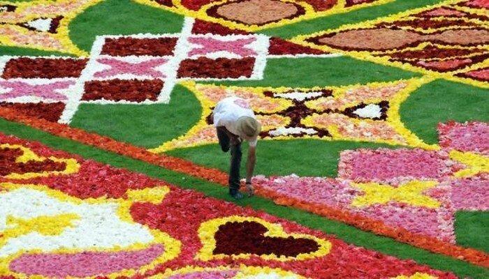 Ковер из цветов (4 фото)