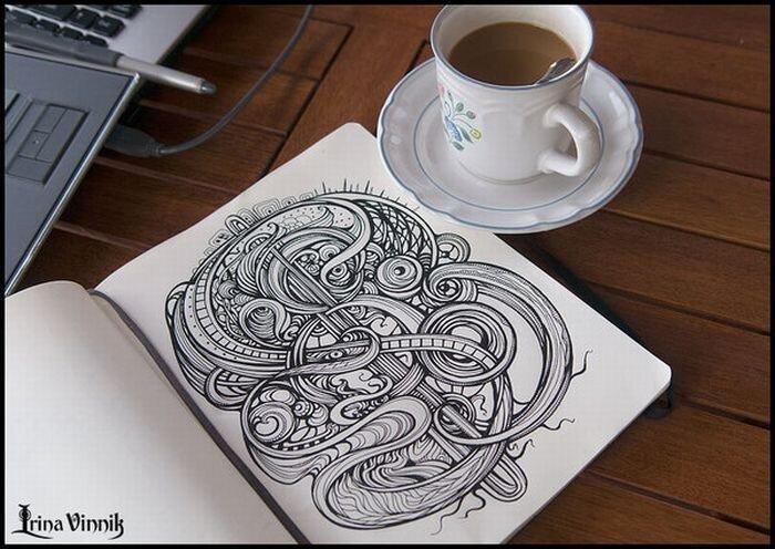 Красивые рисунки в тетради (21 фото)
