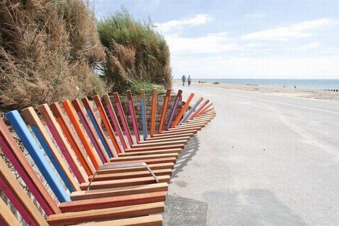 Самая длинная скамейка в мире (9 фото)