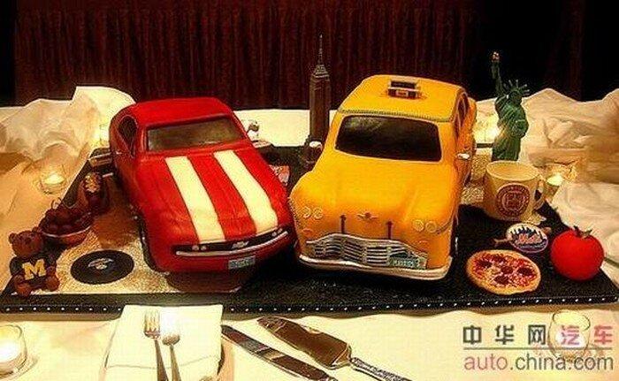 Забавные авто-торты (26 фото)