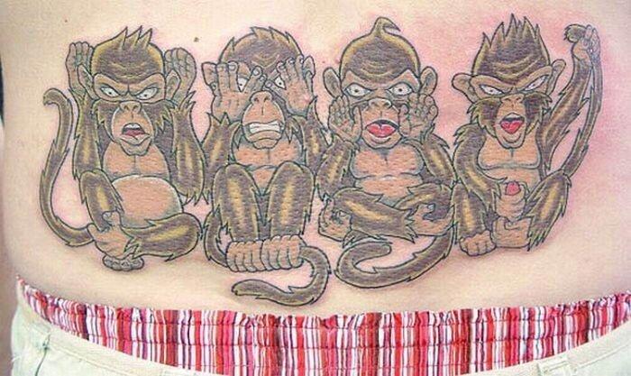 Безумные татуировки обезьян (20 фото)