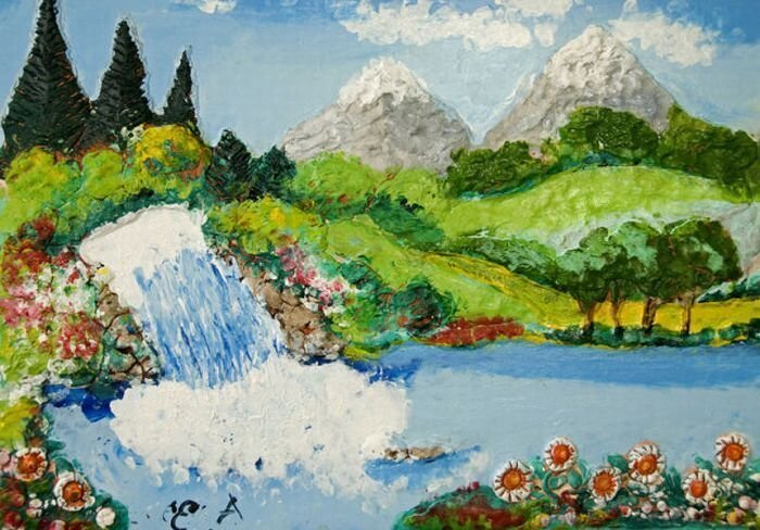 Картины Эсрефа Армагана. Слепой художник. (43 картины)
