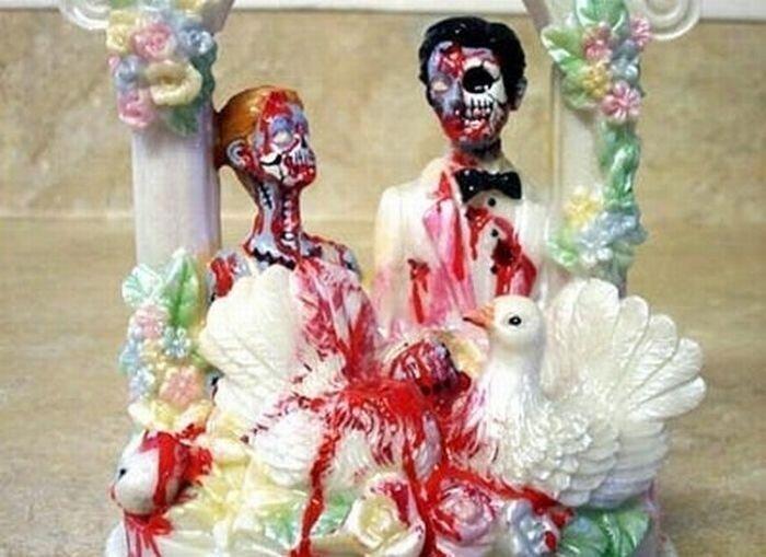 Свадебные торты, нелепые и отвратительные (18 фото)