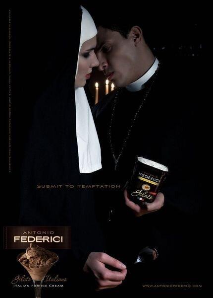 Запрещенная реклама мороженого Antonio Federici Gelato Italiano (4 фото)