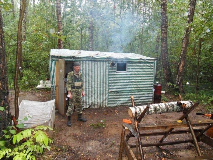 Виктор Борисов, который живет в лесу (13 фото+текст)