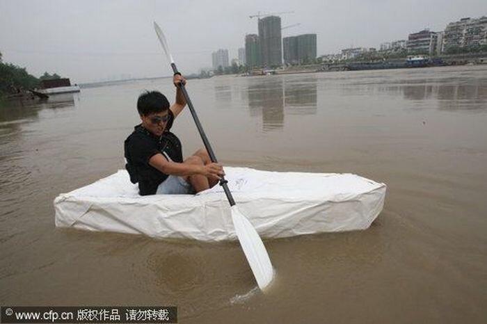 Бумажная лодка (3 фото)