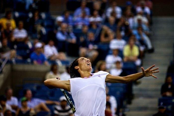 Подача в теннисе (9 фото)