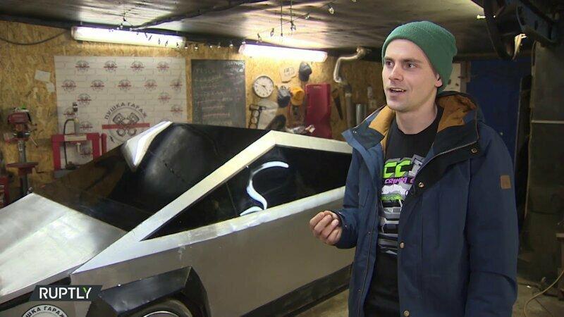 Журналисты выяснили, кто создал Tesla Cybertruck из жигулей, которая ездит по Москве