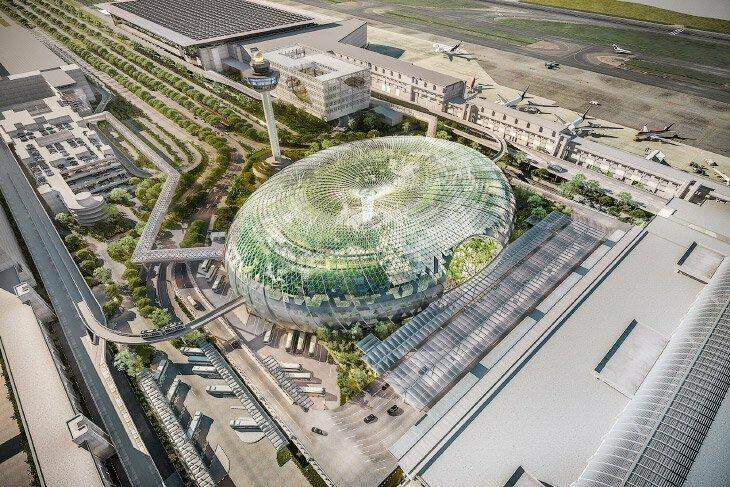 Уникальное сооружение Jewel Changi Airport в лучшем аэропорту