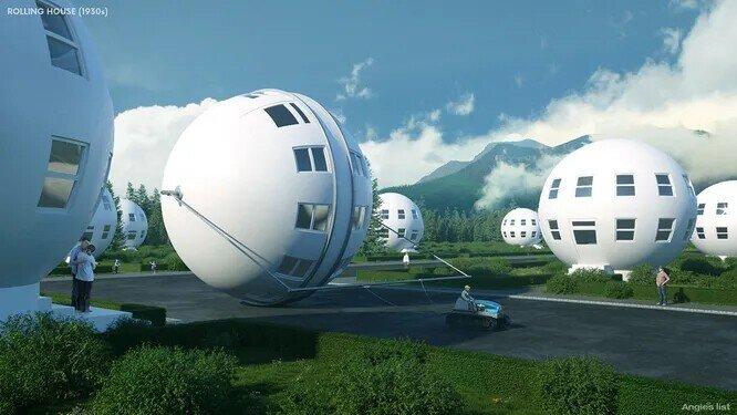 Необычные дома будущего в ретро-стиле - взгляд из прошлого