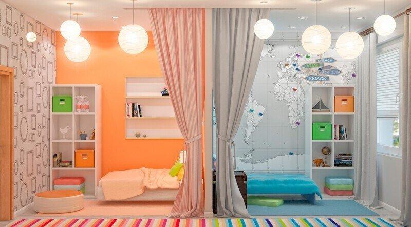 Комната для разнополых детей разного возраста