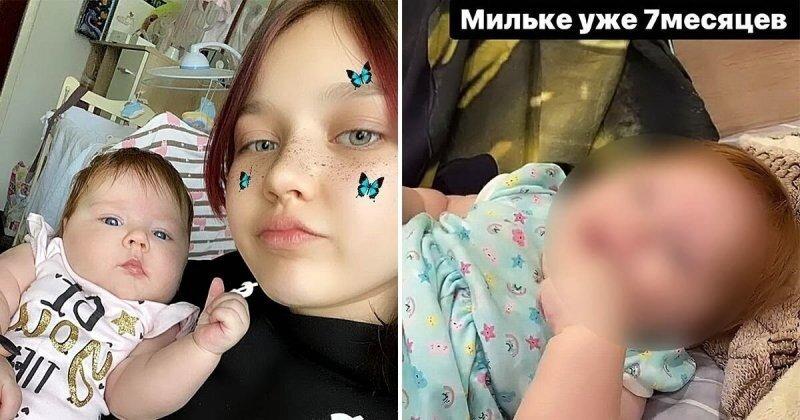 Родившая в 14 лет школьница показала нового парня и подросшую дочку (6 фото)