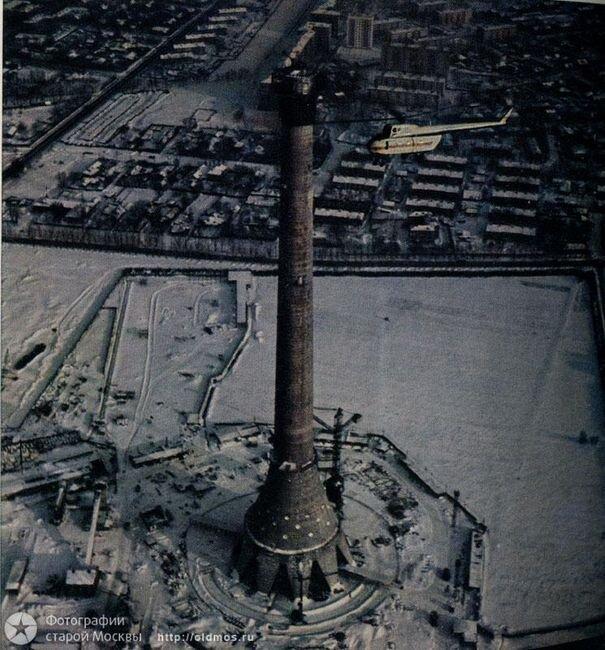 Как строили Останкинскую башню (18 фото)