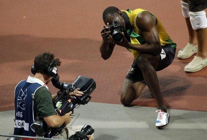 Фотокорреспондент-легкоатлет Усэйн Болт (14 фото)