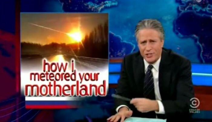 The Daily Show про метеорит и крейзи рашанс (видео)