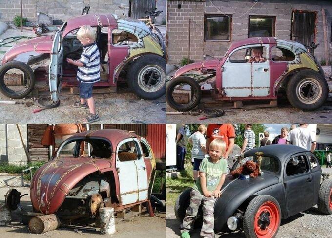 Мини-автомобиль для сына (28 фото)