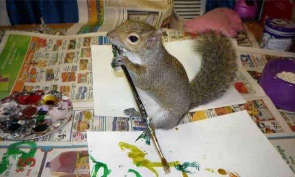 Маленькая художница (6 фото)
