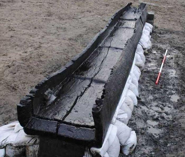 Археологи обнаружили флот из восьми древних лодок (6 фото)