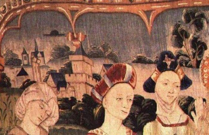Изображение НЛО на старинных фресках и картинах (15 фото)