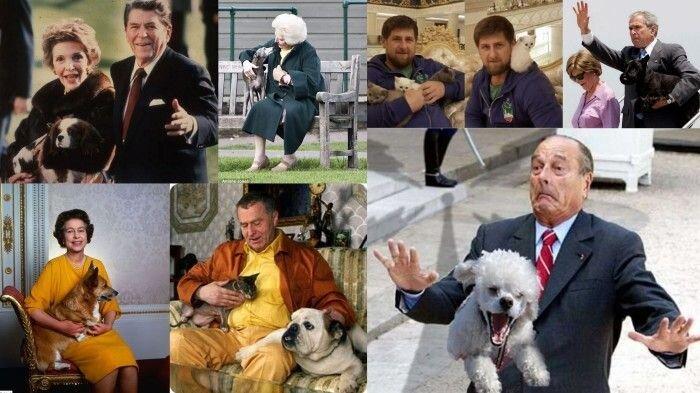 Четвероногие любимцы известных политиков (24 фото)