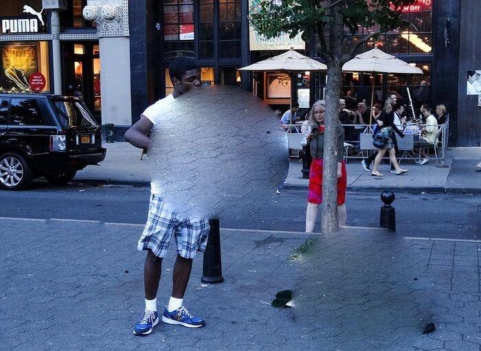 Уличный музыкант в Нью-Йорке (2 фото+ видео)