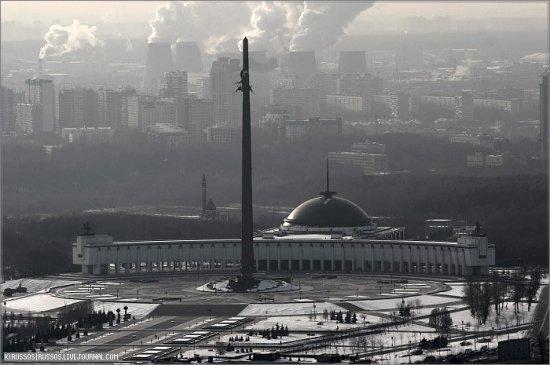 Москва с высоты птичьего полета (52 фото)