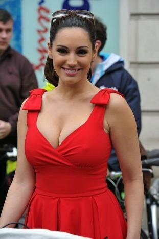 Model Kelly Brook Goes For A Bike Ride