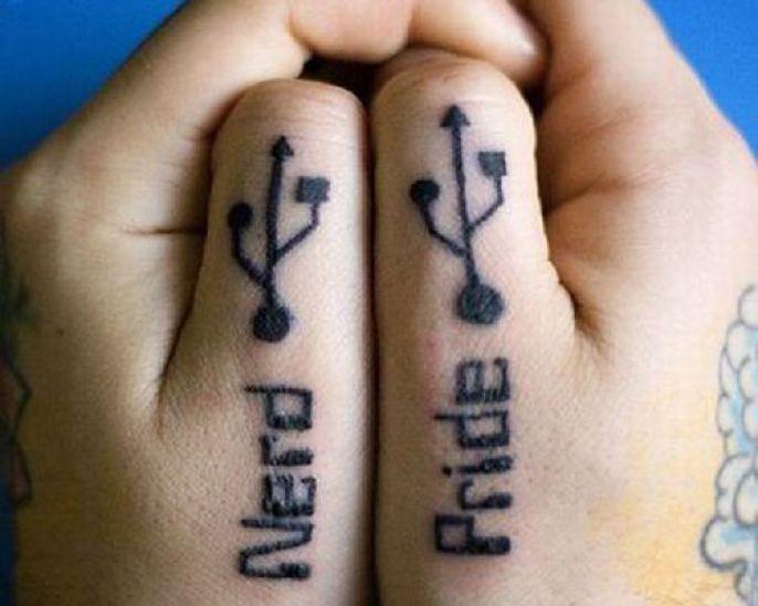 Funny Nerd Tattoos