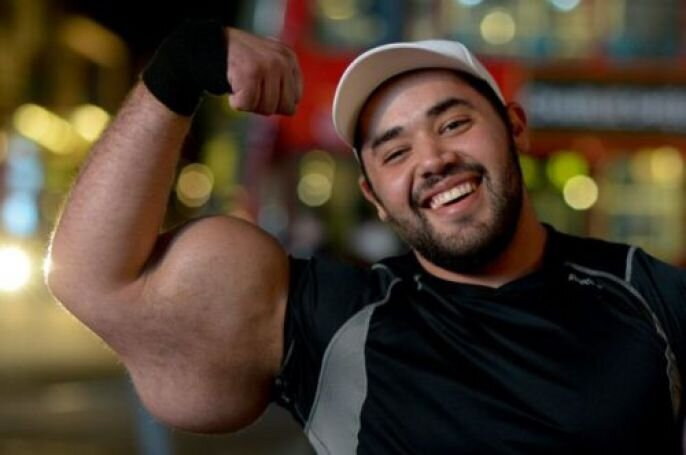 The Biggest Biceps In The World!