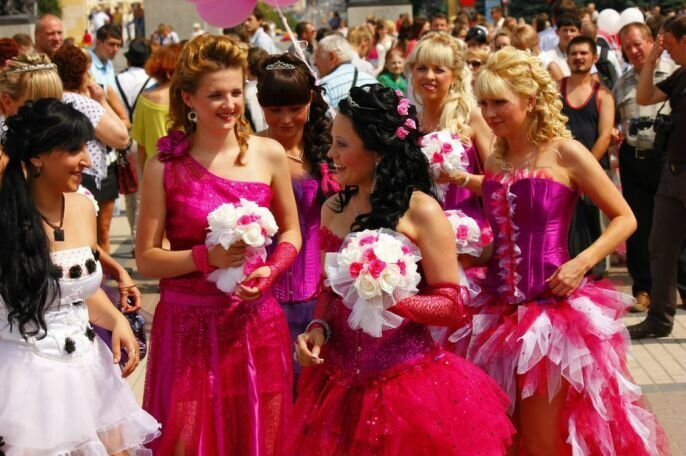 Interesting Wedding Brides Parade