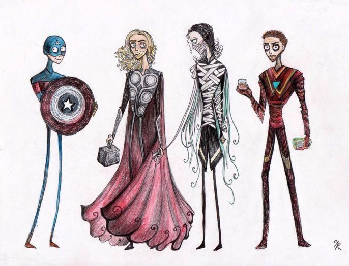 If Tim Burton Drew The Avengers