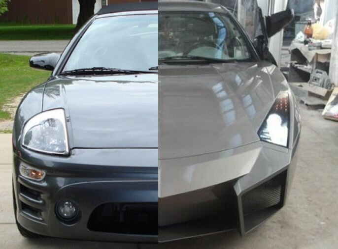 Photos of A DIY Car From Mitsubishi Eclipse To A Lamborghini Reventon