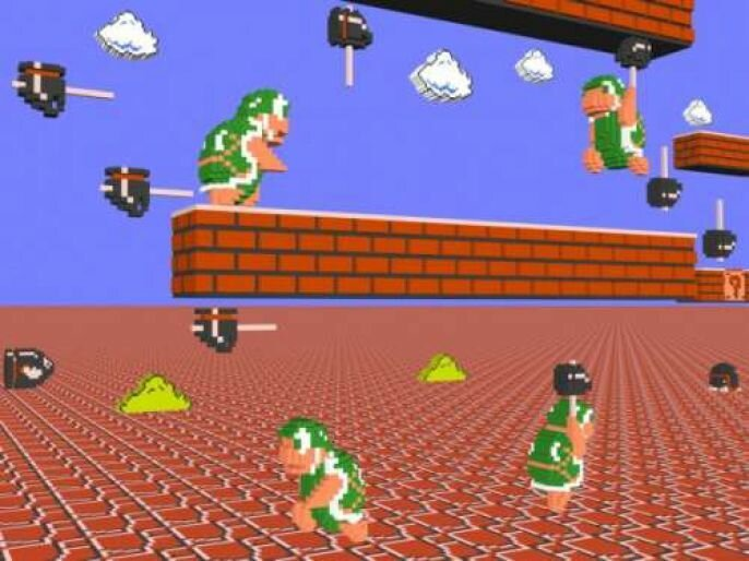 Classic Video Games Done In 3D