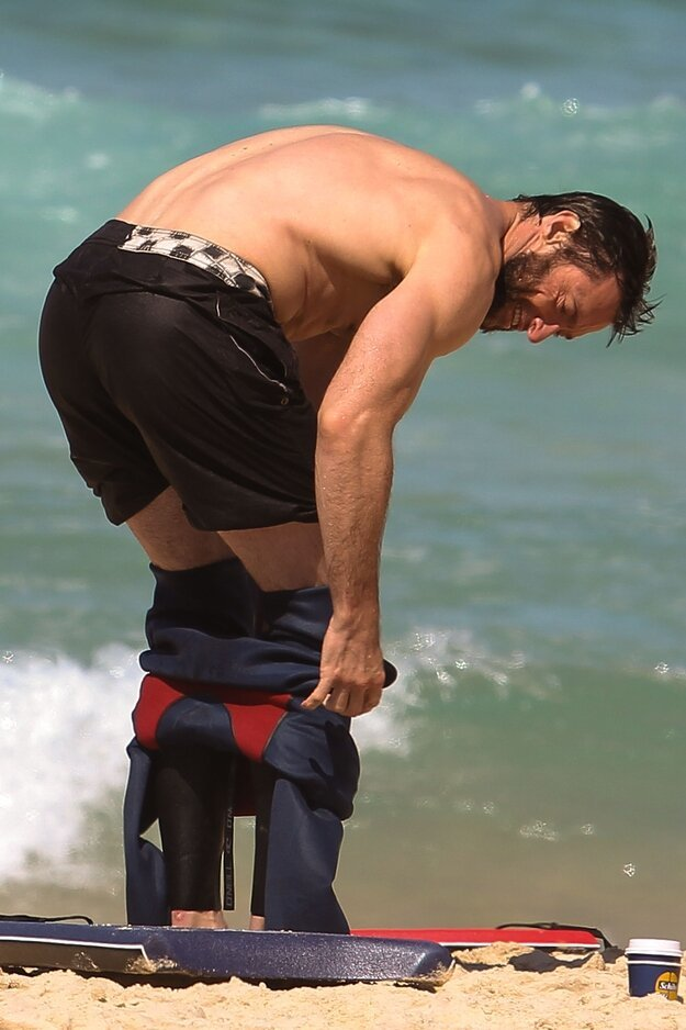 Hugh Jackman Went To The Beach. Just For Us.