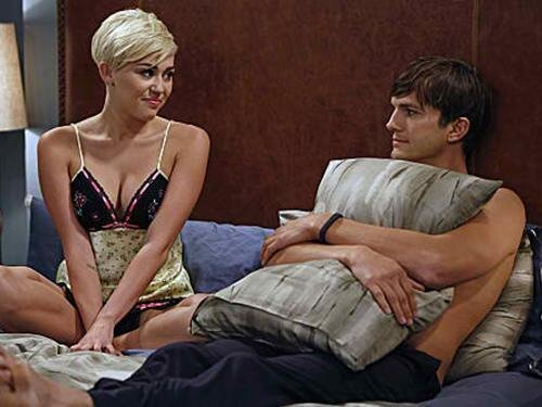 Miley Cyrus On Hit TV Series Two And A Half Men