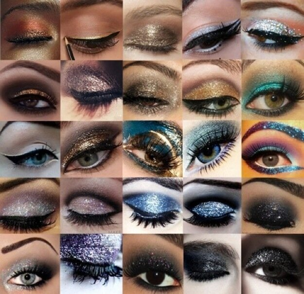 Makeup Pr0n: Glittery Eyes