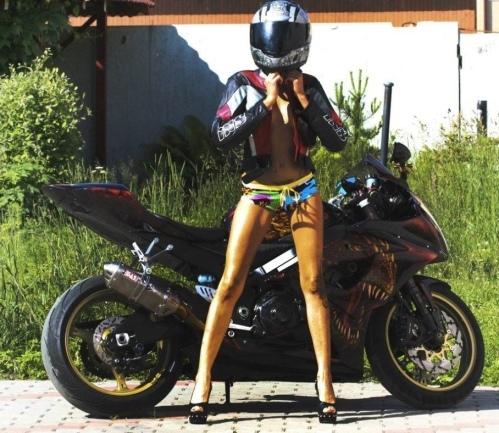 Emma: The Hot Russian Motorcyclist