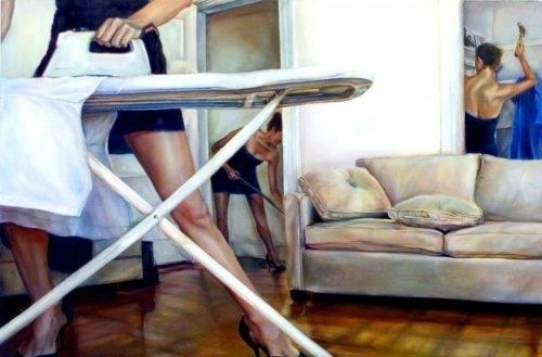 Sexy high-heel Feminist photo realism by Ana Teresa Fernandez  от Veggie за 02 oct 2012