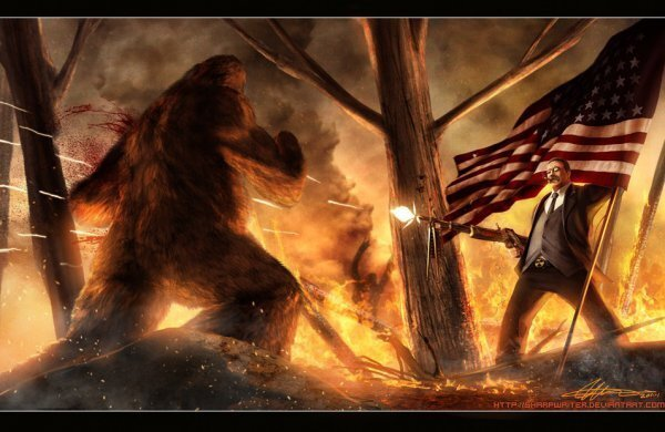13 paintings of US presidents being kick-ass!!