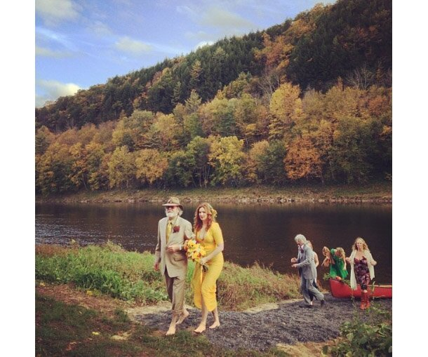 Amber Tamblyn's Yellow Wedding Dress
