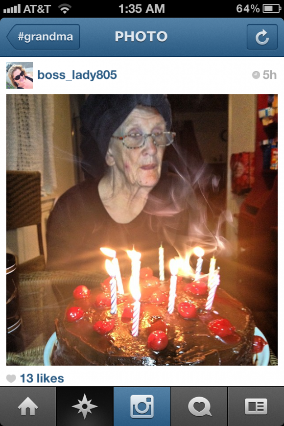 Grandma + Instagram = AWESOME!