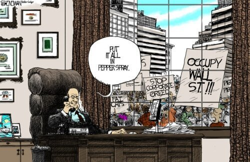 Occupy Wall Street Political Cartoons от Veggie за 16 oct 2012