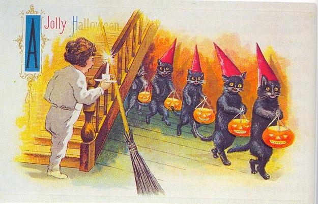 Strange Halloween Postcards